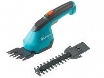 Комплект: Ножницы для газонов аккумуляторные AccuCut Li с 2 ножами (для травы - 8 см, для кустарников - 12 см) Gardena 09852-33.000.00 - фото