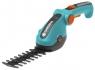 Комплект: Ножницы для газонов и кустарников аккумуляторные ComfortCut с 2 ножами (для травы - 8 см, для кустарника - 18 см) Gardena 08897-20.000.00 - фото