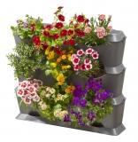 Базовый модуль для вертикального садоводства горизонтальный (3 емкости, 3 крышки, 1 поддон, 12 клипс) - фото