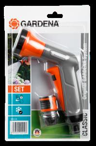 Комплект: Пистолет-распылитель для полива Classic + Коннектор с автостопом Gardena 18312-33.000.00 - фото