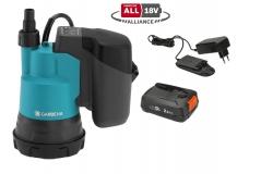 Насос дренажный для чистой воды аккумуляторный 2000/2 18V P4A  с аккумулятором Gardena  14600-20.000.00 - фото