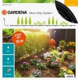 """Комплект базовый для наземной прокладки 4.6 мм (3/16"""") х 15 м c фитингами и мастер-блоком Gardena 13010-20.000.00 - фото"""