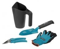 Комлект садовых инструментов (секатор, лопатка, перчатки садовые, многофункциональный кувшин с заостренным краем) - фото