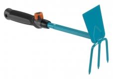 Мотыжка ручная 6.5 см с 3 зубцами (ручной садовый инструмент-насадка для комбисистемы) - фото