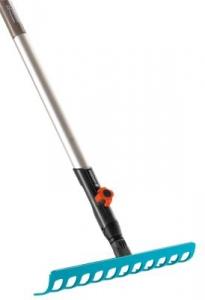 Комплект: Грабли 30 см (насадка для комбисистемы) + Рукоятка деревянная 130 см Gardena 03024-20.000.00 - фото
