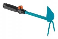 Мотыжка ручная 6 см с 2 зубцами (ручной садовый инструмент / насадка для комбисистемы) - фото