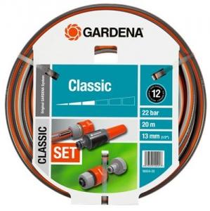 """Шланг Classic 13 мм (1/2""""), 20 м: комплект Gardena 18004-20.000.00 - фото"""