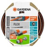 "Шланг FLEX 13 мм (1/2""), 20 м, с фитингами Gardena 18034-20.000.00 - фото"